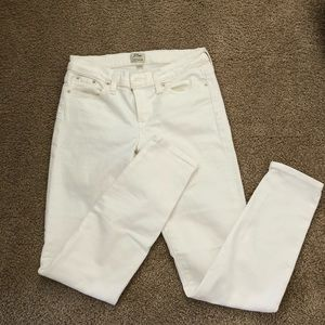 Jcrew toothpick jeans. White. Size 26